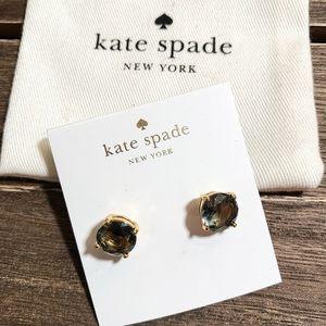 NWT Kate Spade Earrings ‼️ Faux Black Diamond